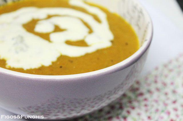 Sopa Creme de Cenoura com Molho de Gorgonzola_F&F