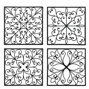 Square Wall Decor   Wrought Iron Wall Decor   Wrought Iron W