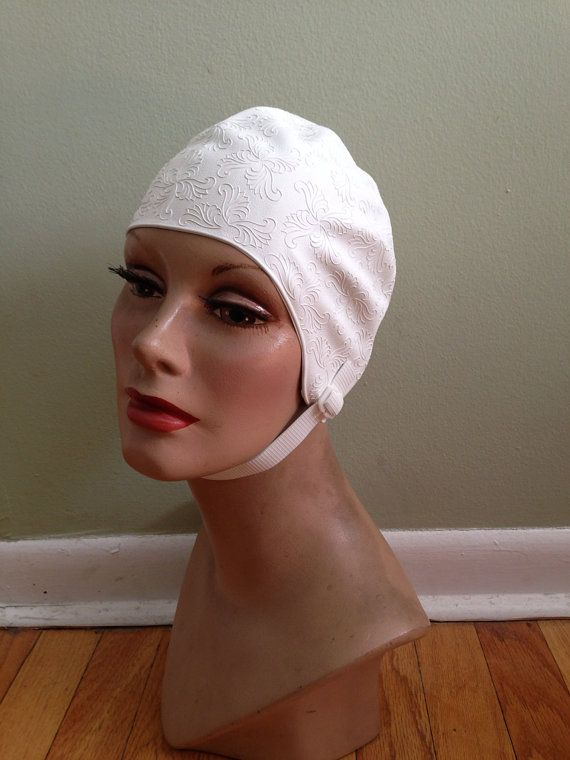 Vintage Bathing Beauty Swim Cap With Chin By