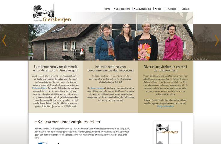 Website Zorgboerderij Giersbergen