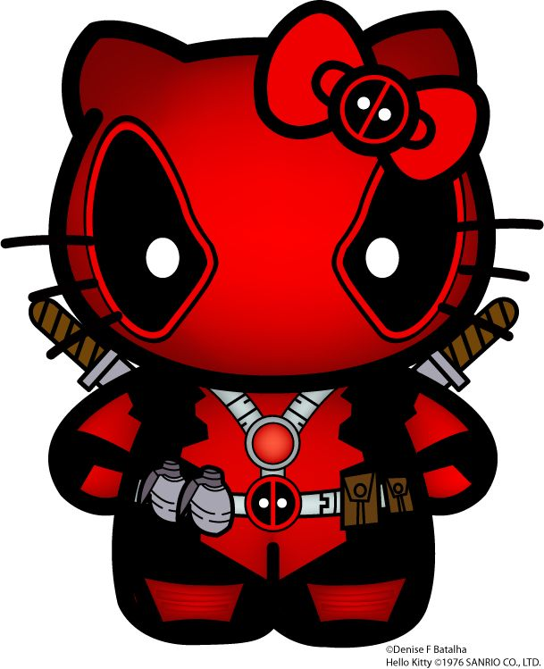 hello deadpool. the hello kitty that doesnt need a mouth. so its not scary.