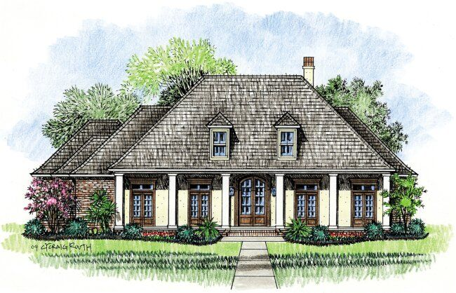 Patterson louisiana house plans country french home for Country french house plans louisiana