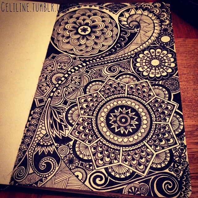 zentangled page
