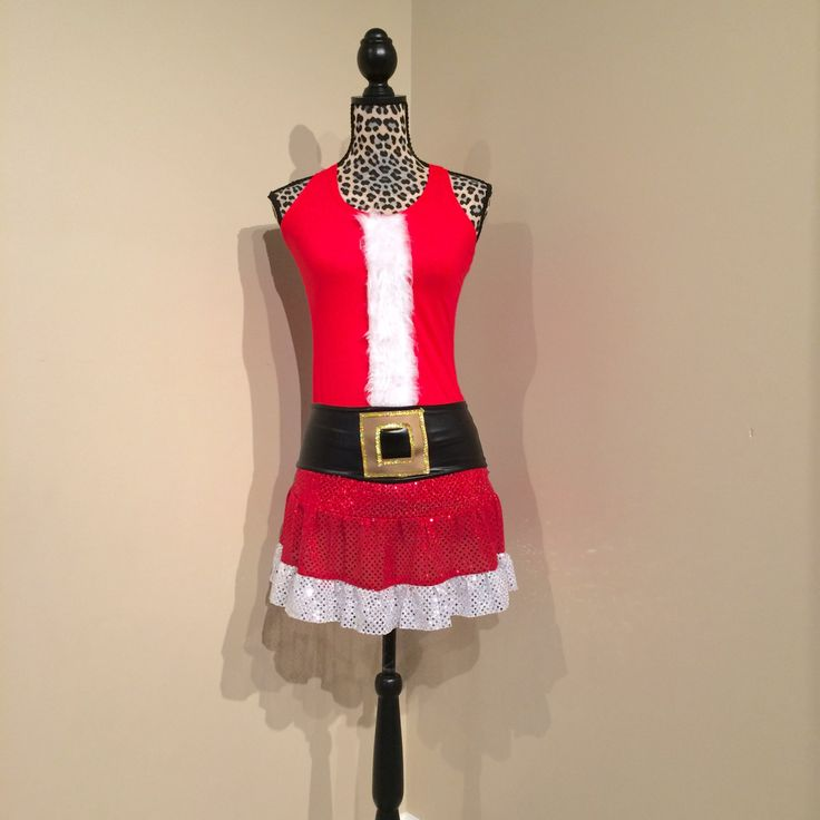 Santa or Mrs. Clause Inspired running costume with santa belt by RockCitySkirts on Etsy