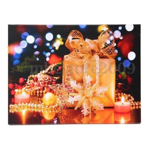 LED Light Christmas Xmas Canvas