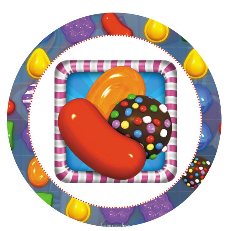 Candy Crush Party: Free Printables Candy Bar Labels.
