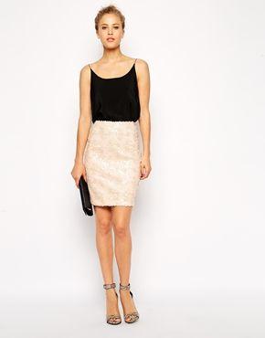 ASOS Sequin Pencil Skirt