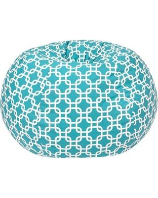 Bean Bag Chair: Gold Medal Gotcha Hatch Print Pattern Extra Large Bean Bag - Turquoise, Aqua Ice
