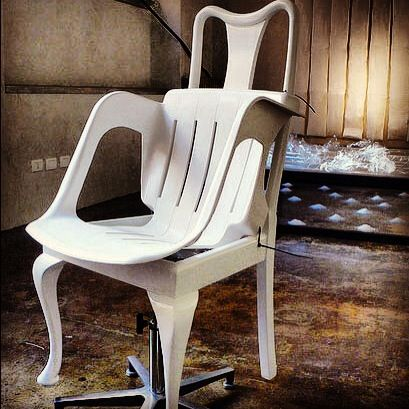 How discarded and unwanted #chairs can become a new one #custommade #whitechair #karenryan