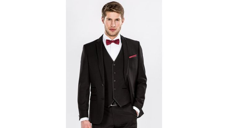 Black Satin Trim Three Piece Slim Fit Dinner Suit - Look dapper in this classic and effortlessly stylish black satin trim three piece slim fit dinner suit from the Harry Brown collection. This suit is slim fitting and therefore we recommend that use the size guides and consider sizing up to get the desired look. This stunning suit includes a jacket, matching waistcoat and trousers.