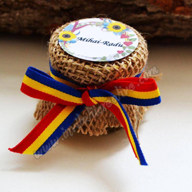 Borcanel Cu Miere Traditional Cu Eticheta Floarea  by InvitatiiCreative.deviantart.com on @DeviantArt