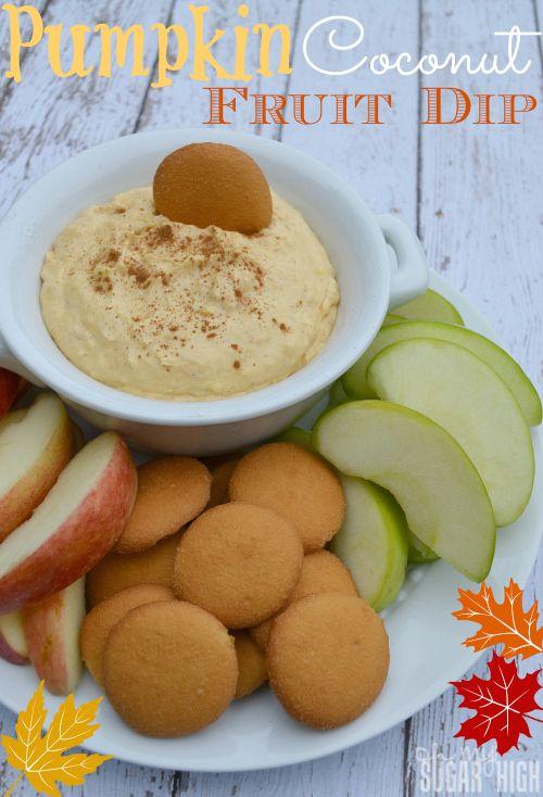 Pumpkin Coconut Fruit Dip with Yoplait Greek Yogurt