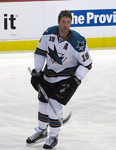 Joseph Eric Thornton (born July 2, 1979) is a Canadian professional ice hockey centre and captain of the San Jose Sharks of the National Hockey League (NHL)