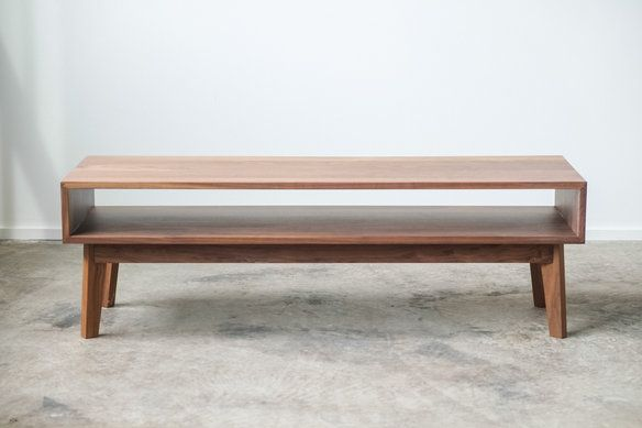 walnut coffee table.   Maybe could use as a low tv stand?