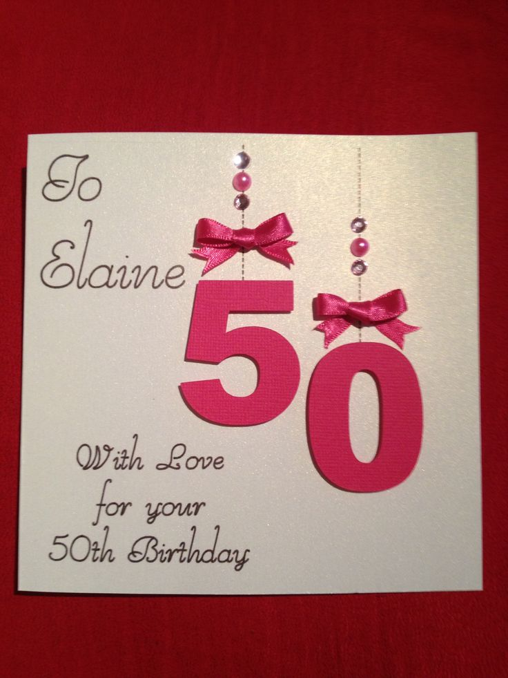 17 Best images about 50th Birthday cards – 50 Birthday Card Ideas