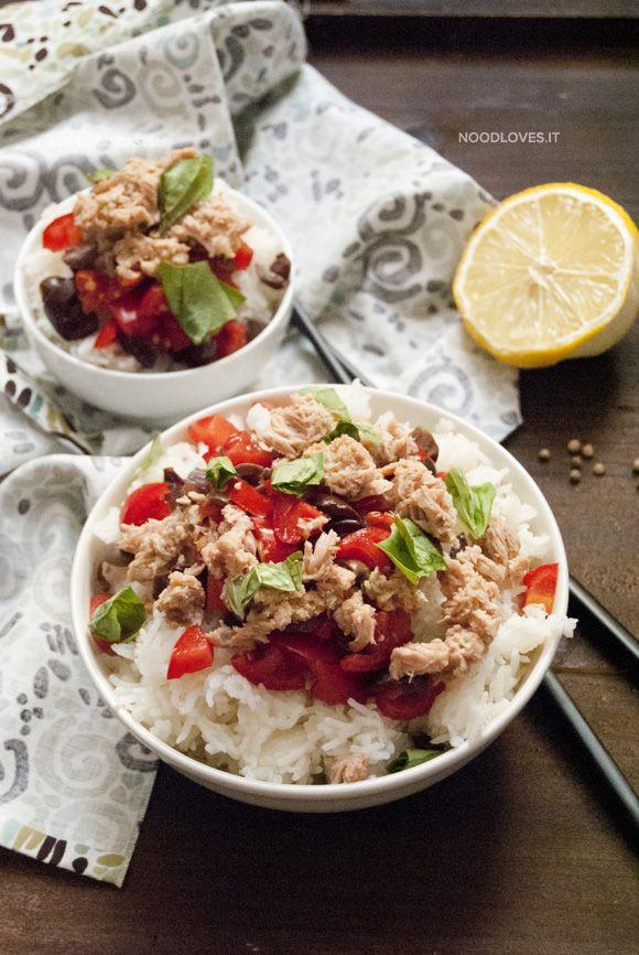 Insalata di riso basmati con tonno e pomodori Fresca, buona e leggera... what else?