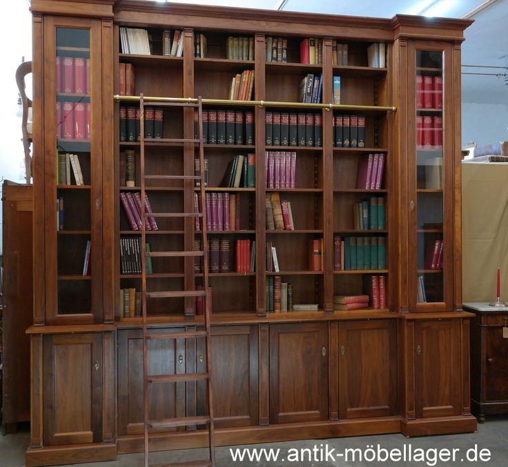 Antik Möbellager Regal Bücherregal Nussholz Antik