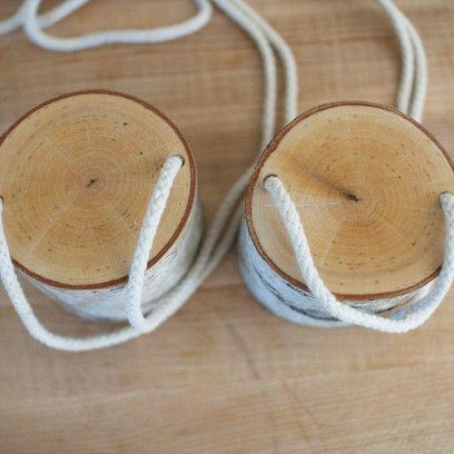 Summer | Wee Folk Art - DIY stilts from birch stumps