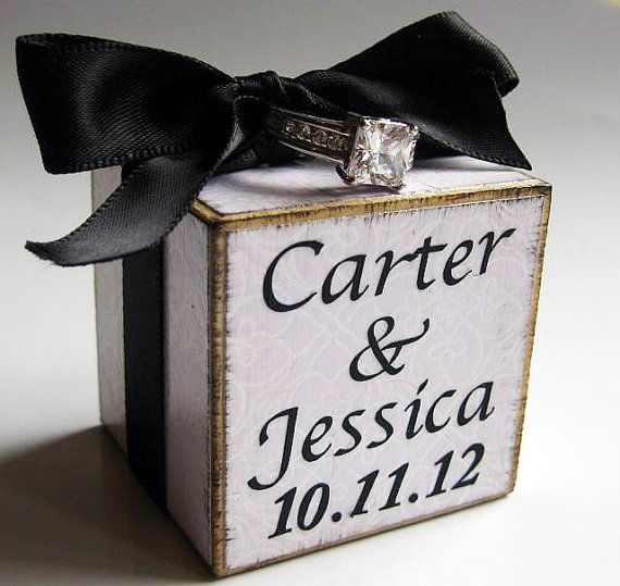 Ring Bearer Block Personalized make this myself , go to ac moore craft store