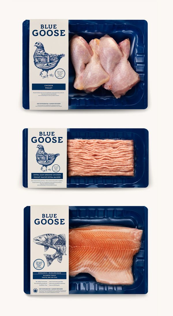 Blue Goose Pure Foods by Flavio Carvalho, via Behance