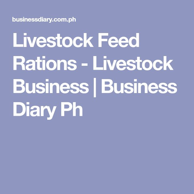 Livestock Feed Rations - Livestock Business | Business Diary Ph