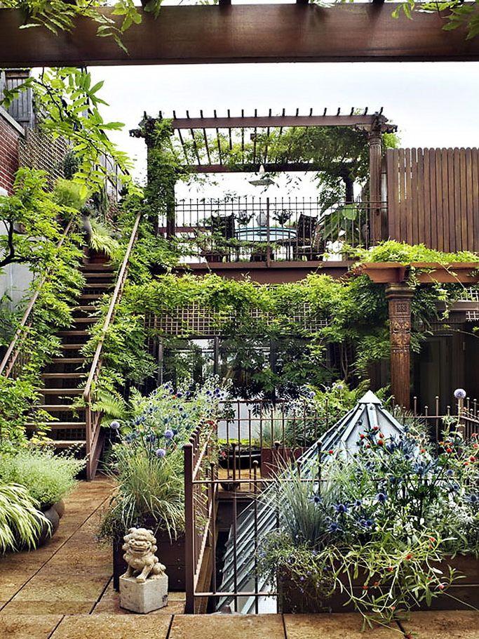 Sur le toit la terrasse devient jardin