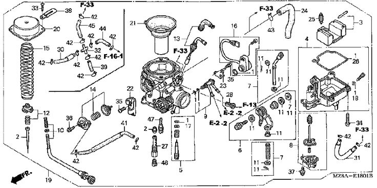 honda rebel 250 carburetor rebuild diagram