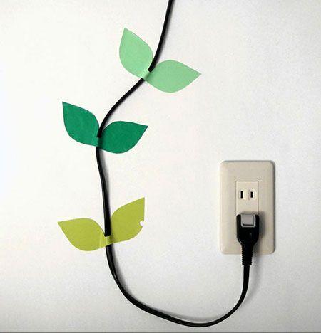Disfarçando cabos com criatividade - Vila do Artesão