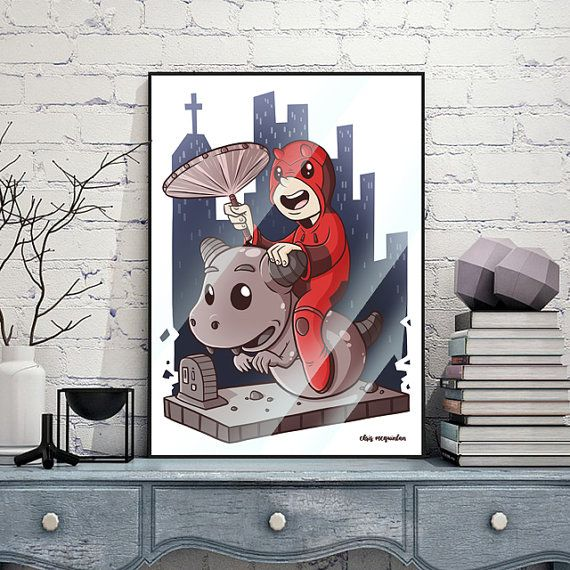 Kiddie Daredevil Print by chrismcquinlanart on Etsy