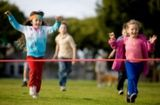 Outdoor Party Games - Dress Up Relay Race: Relay races are fun and exciting outdoor party games for kids.