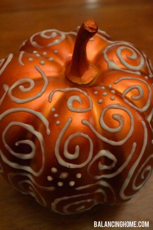 puffy paint glow pumpkin yw pinterest