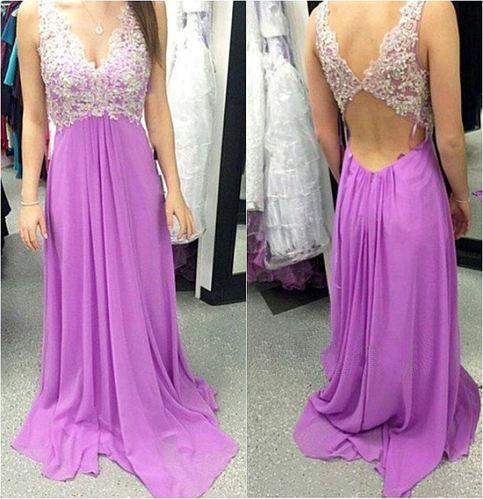 Bg550 Charming Prom Dress,Long Prom Dresses,Appliques Prom Dress,Backless