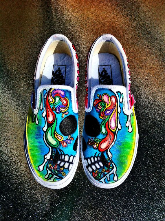 111 best Painted Shoes images on Pinterest