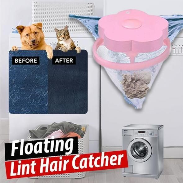 Washing Machine Portable Floating Pet Fur Catcher Reusable Hair Remover Tool