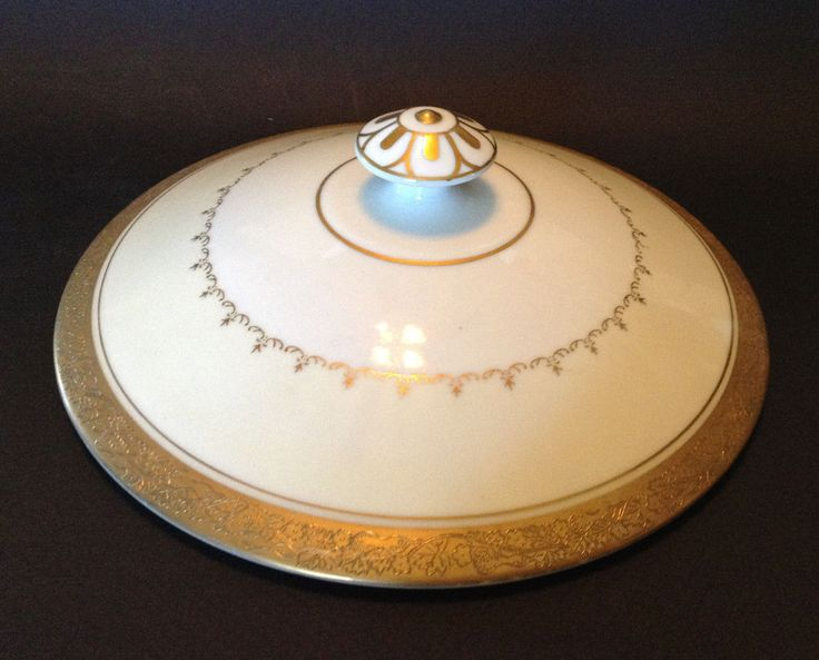 Porcelain Lid With Ornate Gilded Knob. Made In Japan By Gold Coast China. To Canada Australia And Japan. And Embossed Intricate Gold Band. Interior Pristine. All Gilding Is Brilliant. | eBay!