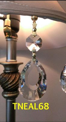 Lot Of 6 Magnetic Teardrop Almond Pea Crystal Charms Chandelier Lamp Wedding Ebay 20 Aaa