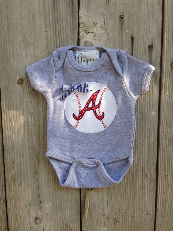Hey, I found this really awesome Etsy listing at https://www.etsy.com/listing/190506995/atlanta-braves-bodysuit-for-baby-girl