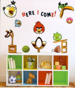 Top 25 ideas about bird bedroom on pinterest nature for Angry bird wall mural