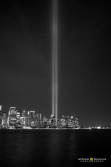 9/11 Tribute in Light - 9/11/2010 by Will Boisture, via Flickr
