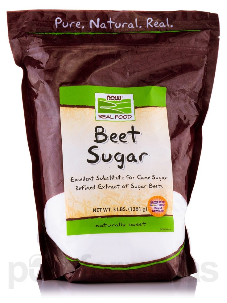 NOW Real Food™ #Beet #Sugar is the refined extract of sugar beets and is 99.9% sucrose' making it an ideal substitute for cane sugar in most #recipes. Persons with intolerance to refined cane sugar will find beet sugar to be a worthy replacement. NOW Real Food™ Beet Sugar is 100 % #pure' #natural Beet Sugar with no added ingredients.