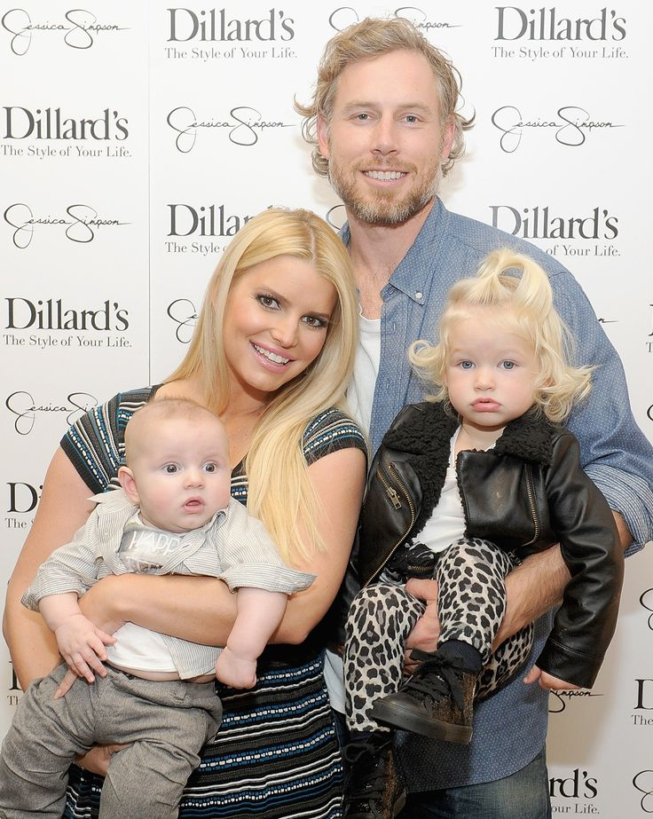Jessica Simpson hit the red carpet for her Dillard's collection and brought fiance Eric Johnson and children Maxwell and Ace with her -- see the pics