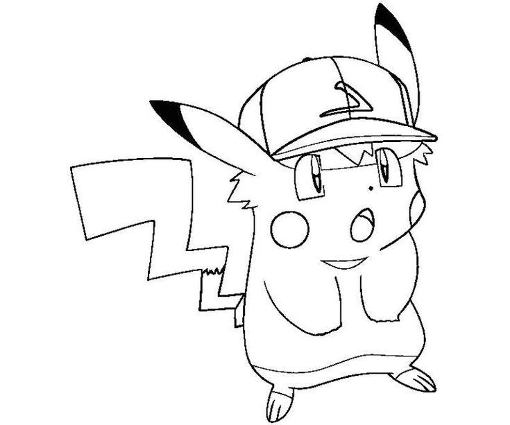 Coloriage de Pikachu #98 - Cliquez pour imprimer