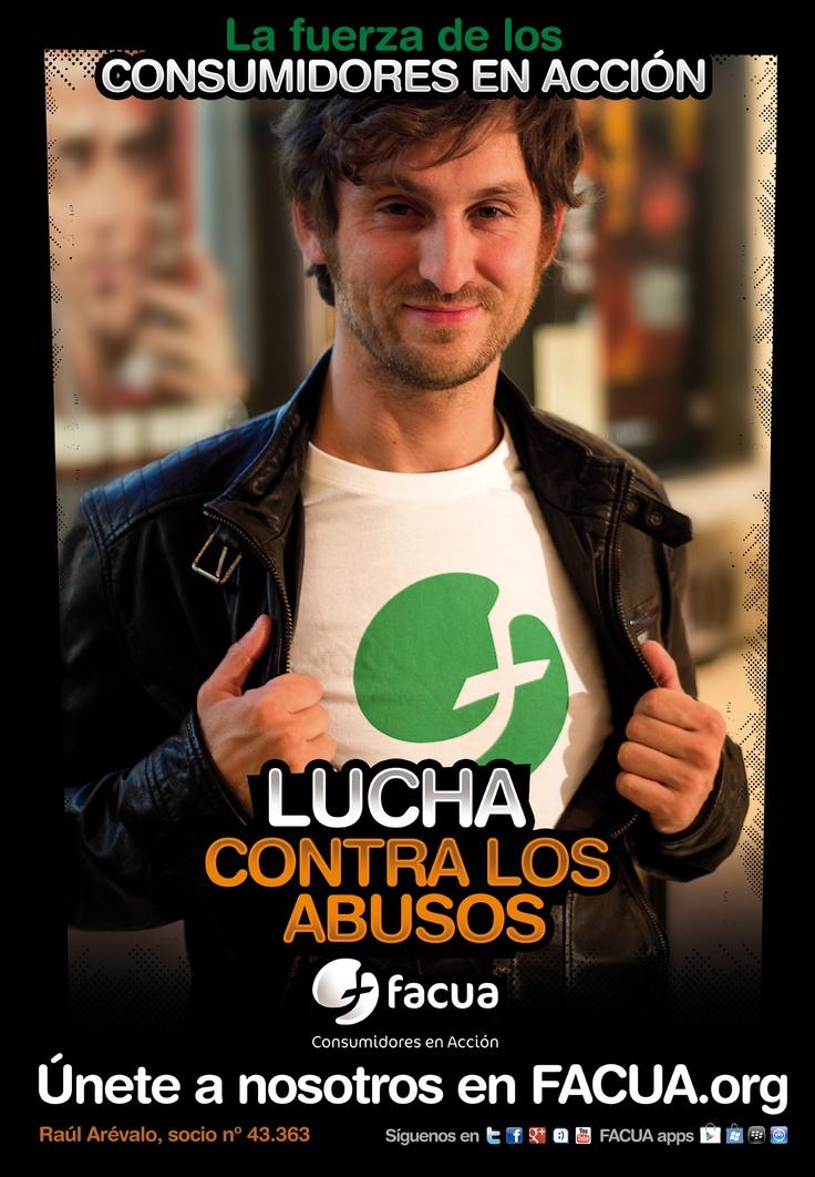 Raúl Arévalo, socio de FACUA nº 43.363, llama a los consumidores a la lucha contra los abusos