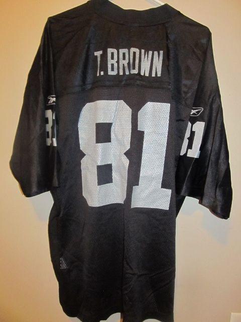 meet a0b63 26a80 Tim Brown - Oakland Raiders jersey - Reebok Adult large ...