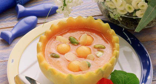 Potage de melon glacéVoir la recette du Potage de melon glacé >>