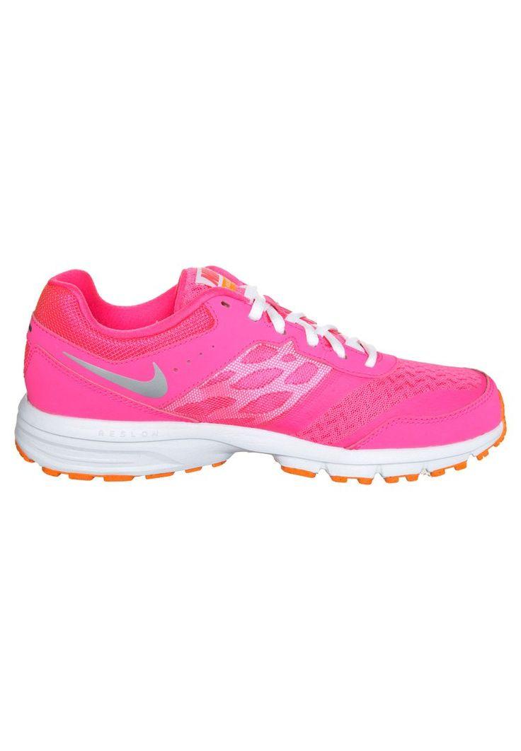 Nike Performance NIKE AIR RELENTLESS 4 - Løpesko for mark - pink pow/metallic silver/orange - Zalando.no