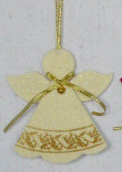 Glittered anjo ornamento sentiu ornamento em Decoração de natal de Casa & jardim no AliExpress.com | Alibaba Group