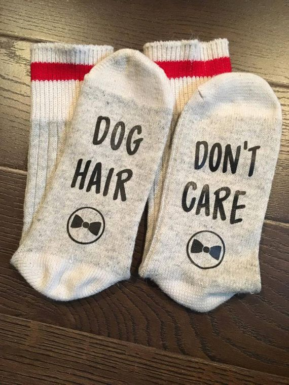 Socks Dog Hair Don't Care Great gift idea  Dog Lover, Etsy, Animals, Dog Hair, Vinyl