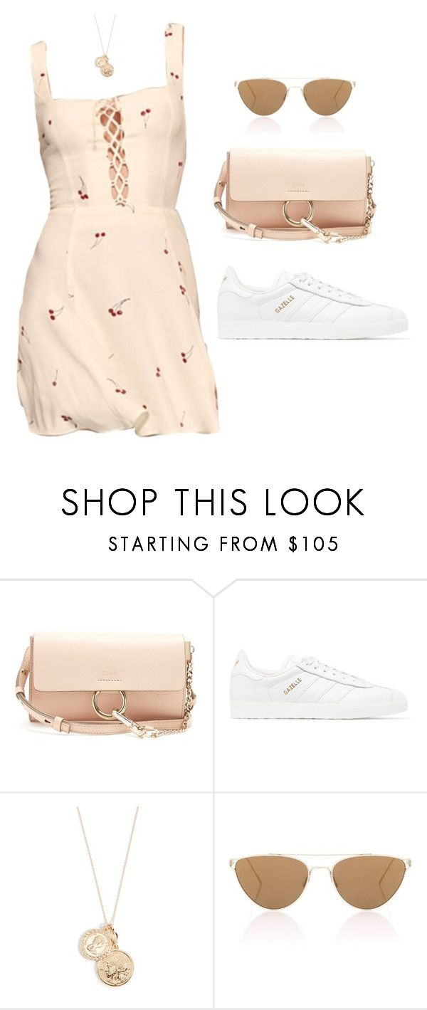 """""""Untitled #5898"""" by lilaclynn ❤ liked on Polyvore featuring Chloé, adidas Originals, Cloverpost, Oliver Peoples, adidas and chloe"""
