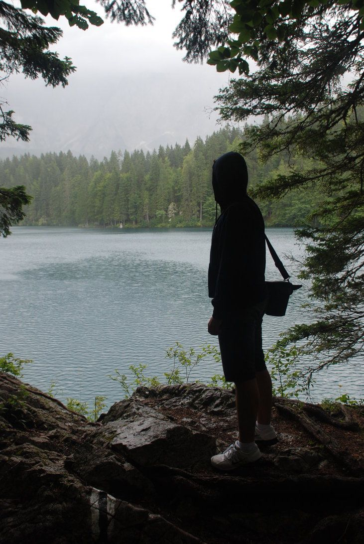 Myself (near a lake) by ~Miccighel on deviantART